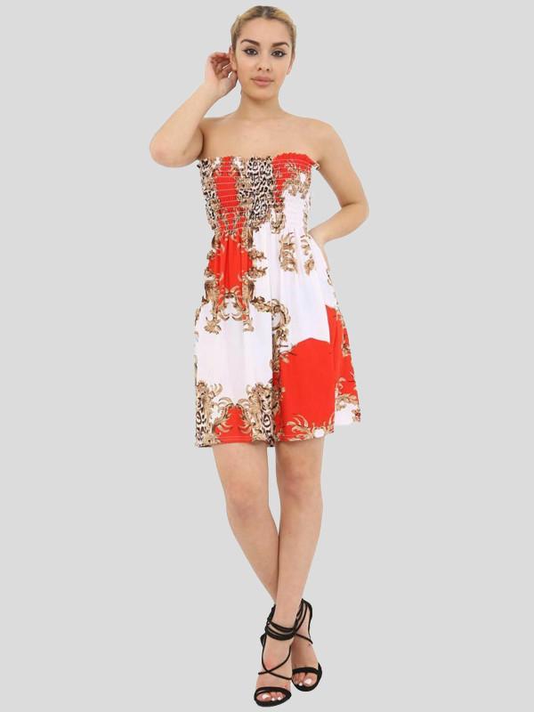Ruby Plus Size Boobtube Bandeau Summer Swing Dress Top 16-22
