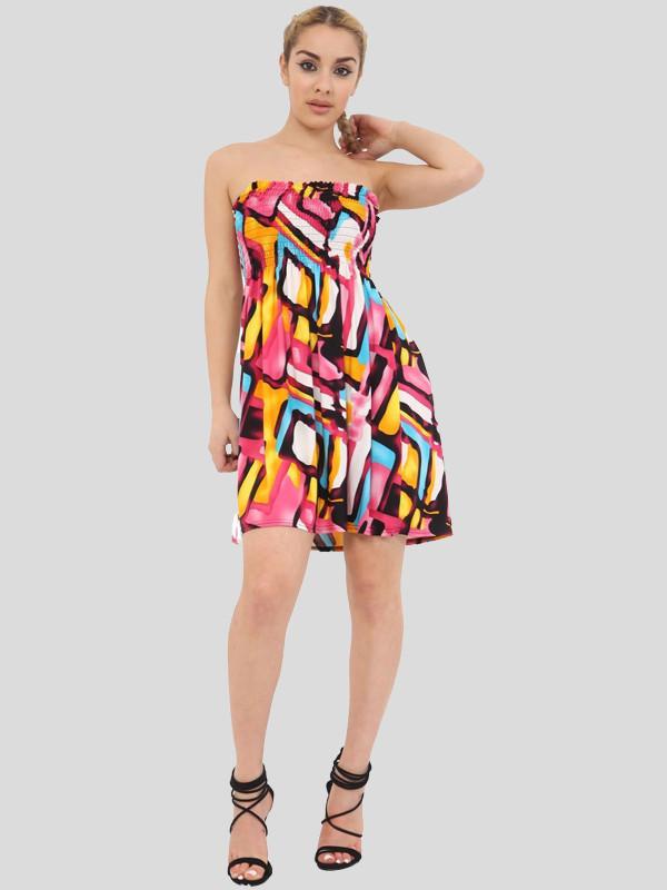 Sadie Boobtube Bandeau Summer Swing Dress Top 8-14
