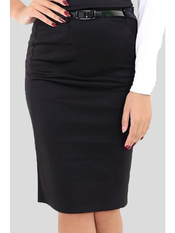Farrah  Bodycon Midi Belted Pencil Skirts 8-16