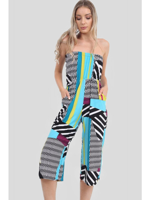 Klaudia Abstract Printed Jumpsuits 8-14