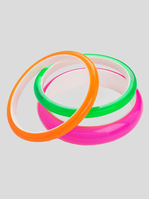 3pc Three Piece Neon Colour Bracelets Accessories