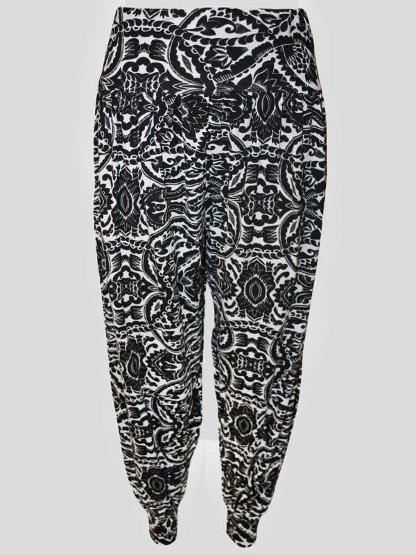 Veronica Paisley Printed Harem Trouser 12-14