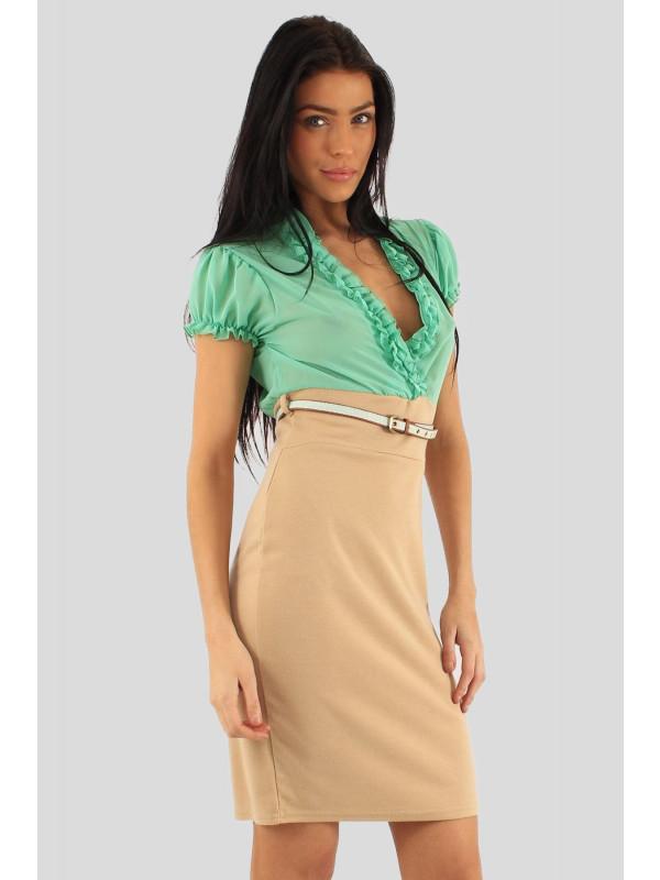 Victoria Lianne Chiffon BodyCon Dress 8-16