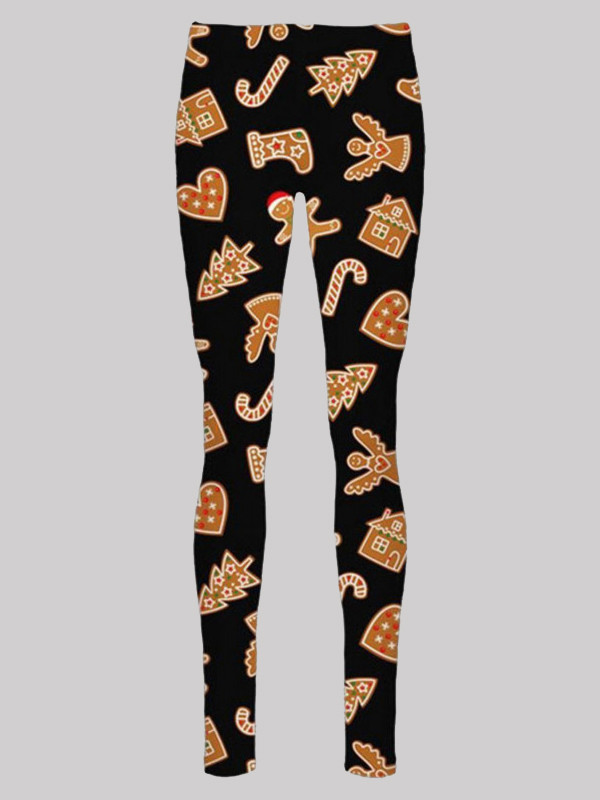 Willow Plus Size Candy Stick Ginger Bell Xmas Leggings 16-34