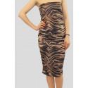 ELISSA Tiger Print Bodycon Dress 8-14