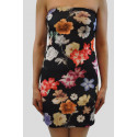 CASSIE Black Floral Bodycon Dress 8-14