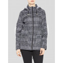 NORAH  Salsa Monochrome Check Print Mac Raincoats 8-16
