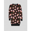 Myra Plus Size Santa On Wall Xmas Jumpers 16-22