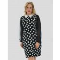Eva Chiffon Sleeve Printed Dress 14-16