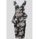 MAIYA Floral Prints Bodycon Midi Dress 8-14