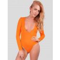 Candela  Neon Colour  V Neck Leotard Bodysuit Top 8-14