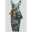ROBIN Floral Prints Bodycon Midi Dress 8-14