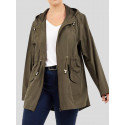 Sloan Lolo Khaki Hooded Mac Raincoats 8-16