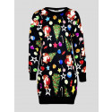 Esmai Plus Size Santa Xmas Printed Jumpers 16-22