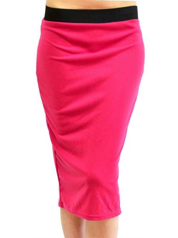 Kehlani Ladies  Bodycon Pencil Midi Skirts 16-26