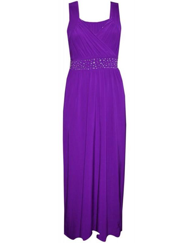 Remington Plus Size Waist Sequin Diamonte Party Dress 16-26