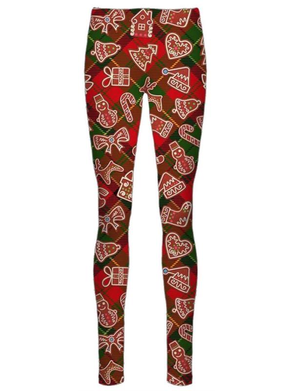Dyna Red Tartan Check Xmas Leggings 8-34