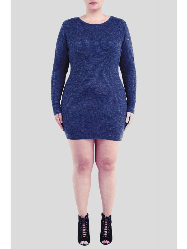 Abby Plus Size Ribbed Knitted Pullover Top 18-24
