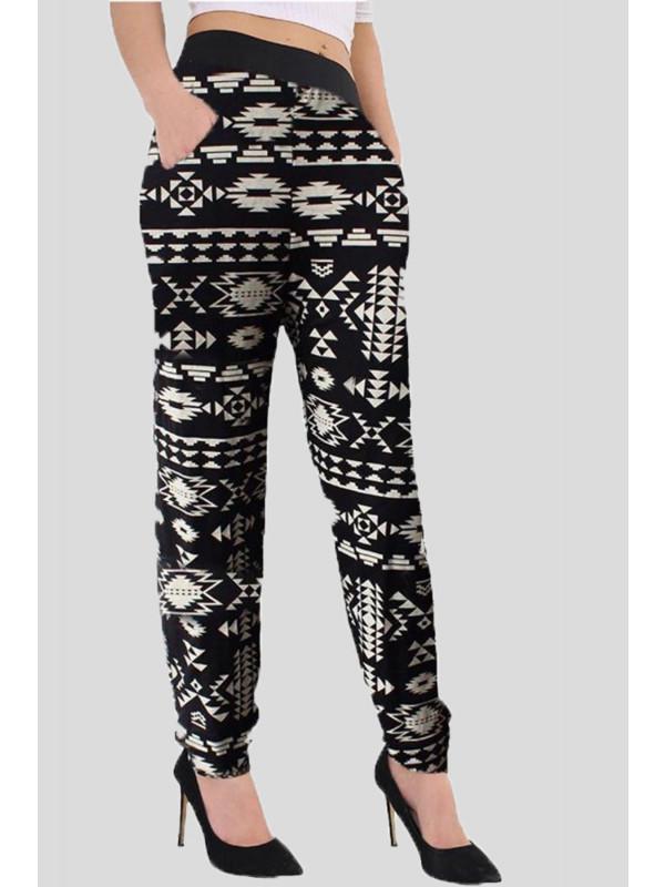 Alana Plus Size Tyedye Aztec Harem Pants 16-26
