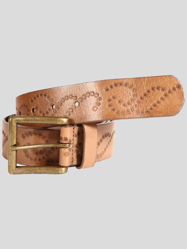 Albert Mens Brown Embossed Genuine leather Belts S-3XL