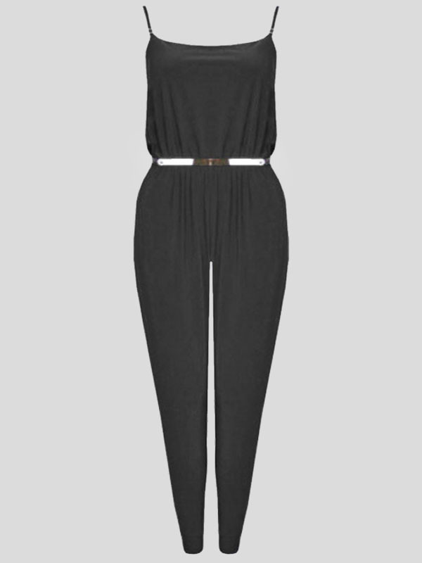ALISSA Strap Belted Jumpsuit Camisole Playsuit 8-14