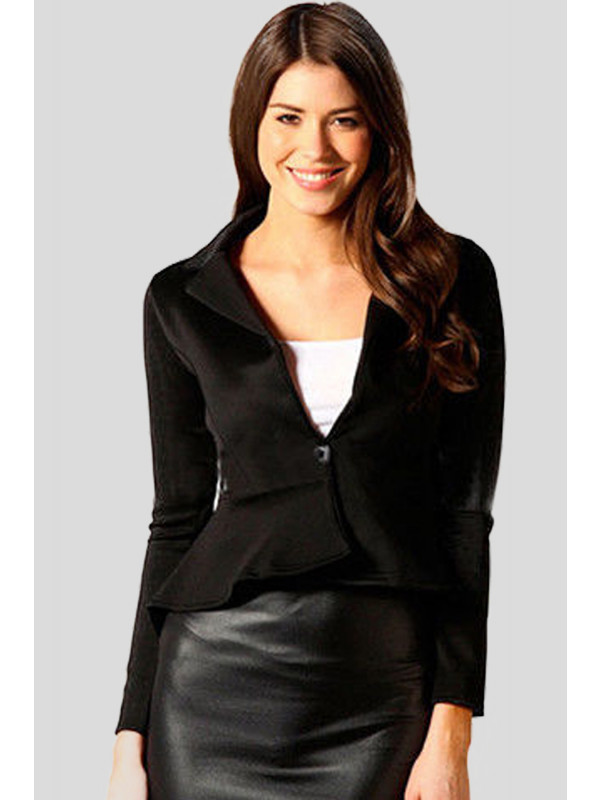 Aliza Single Button Long Sleeve Blazer Jacket 8-16