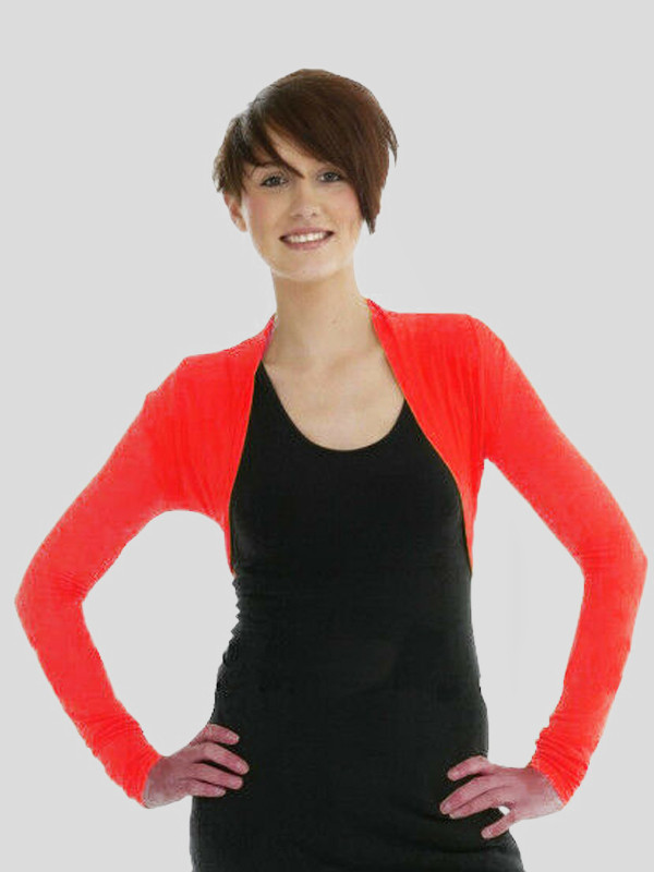 Allyson Plus Size Long Sleeve Bolero Shrugs Tops 16-26