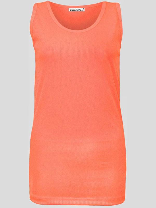 Jenny Plus Size Muscle Vest Ladies Ribbed Tank Vest Tops 16-28