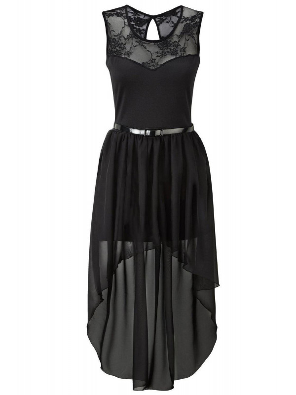 Amina Plus Size Lace Belted Prom Party Dress 16-26