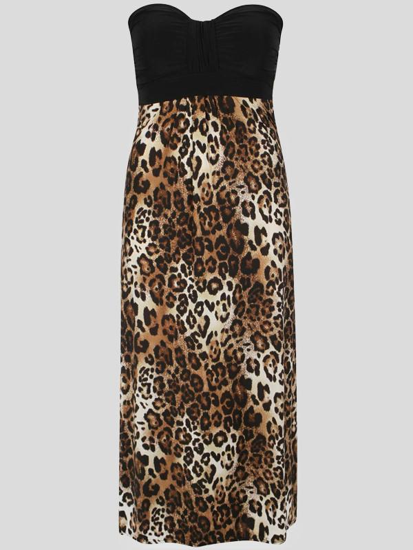 Xavia Bandeau Boob Tube Floral Print Maxi Dress 8-14