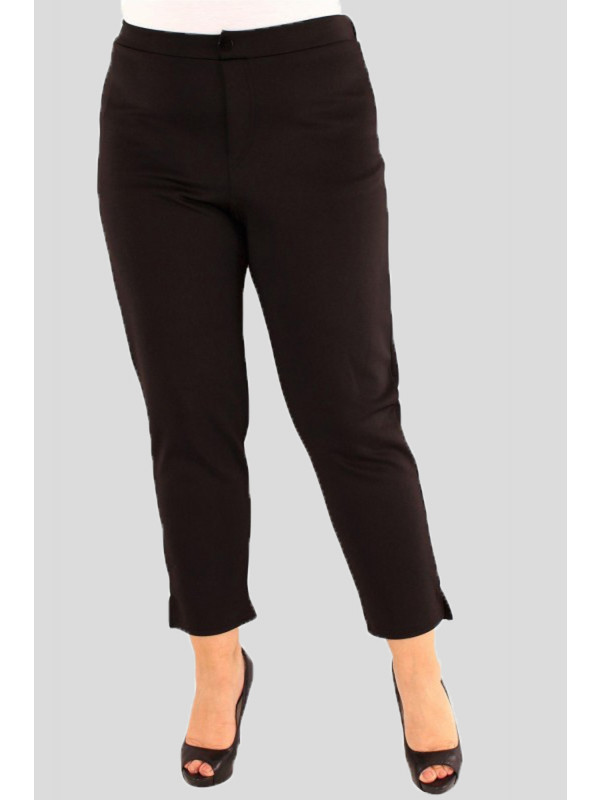 Freya Plus Size Plain Scuba Stretch Trousers 16-24
