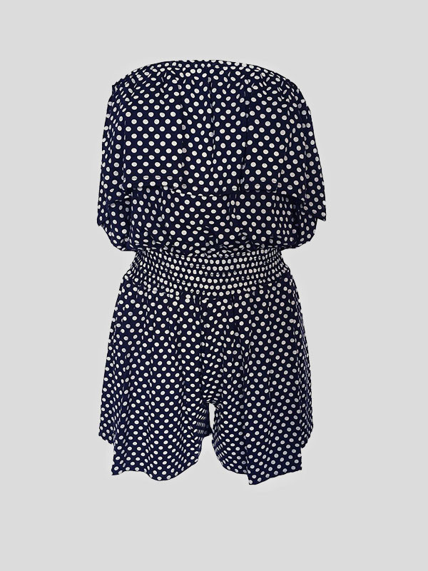 RENAE Polka Dot Print Shorts Playsuit 8-14