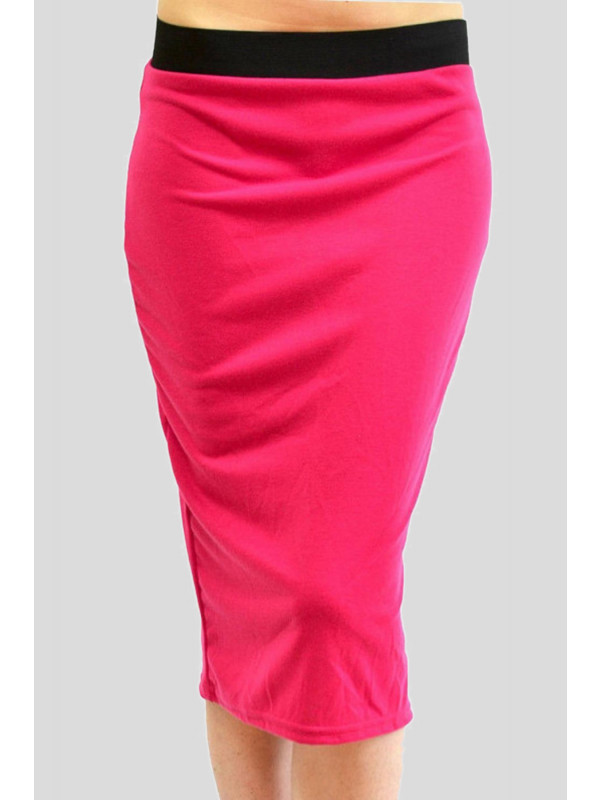 Kehlani Plus Size Ladies Bodycon Pencil Midi Skirts 16-26