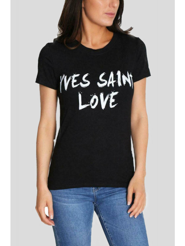 Sarah Yves Saint Love Slogan Print Tops 8-14