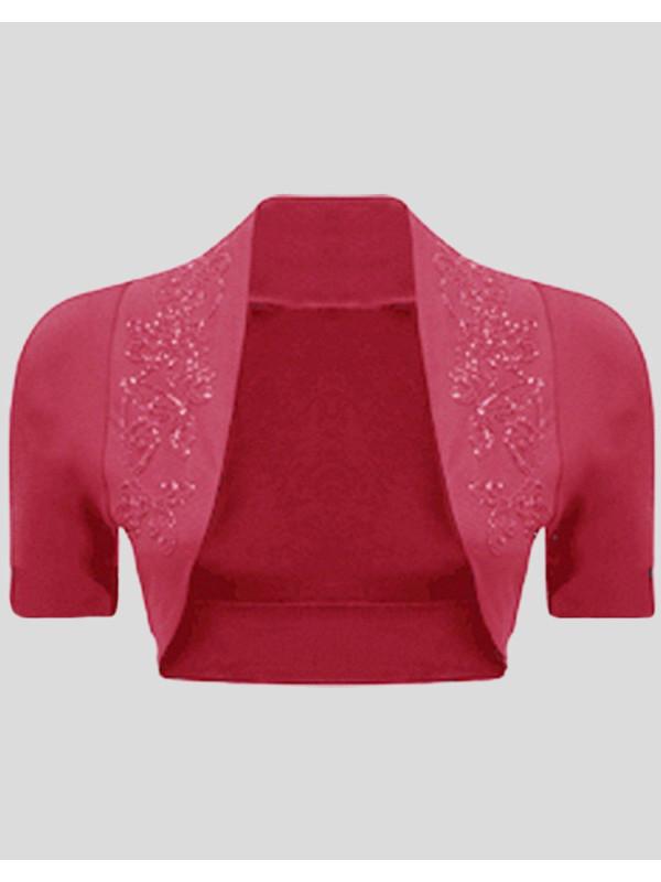 Brettany Sequines Short Sleeve Shrugs 8-14