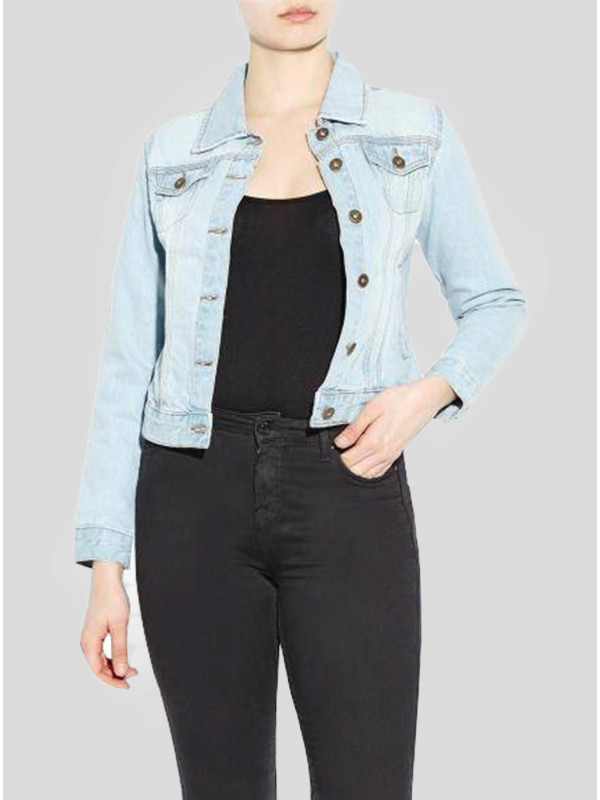 Charlie Plus Size Pure Cotton Denim Jeans Jacket 18-24
