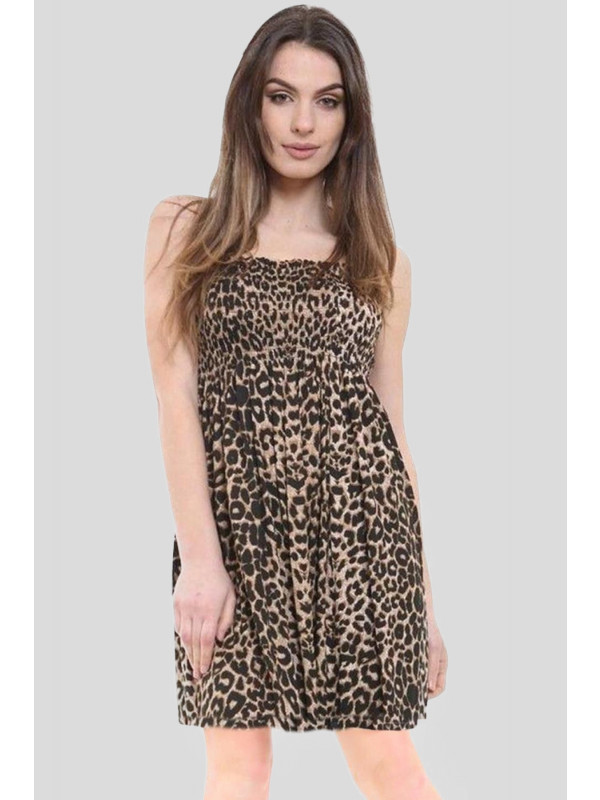 Darcie Plus Size Leopard Print Printed Boobtube Top 16-26