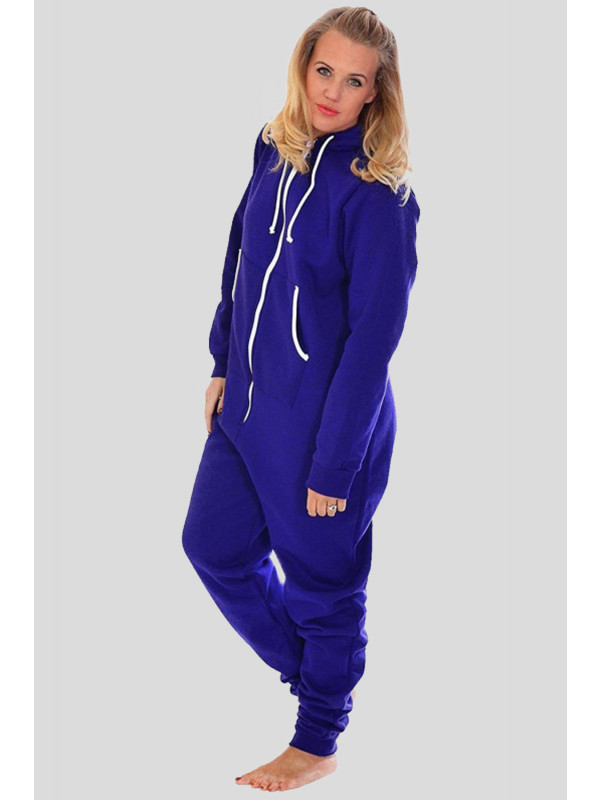 Sinead Plain Hooded OneSie Jumpsuit M-L