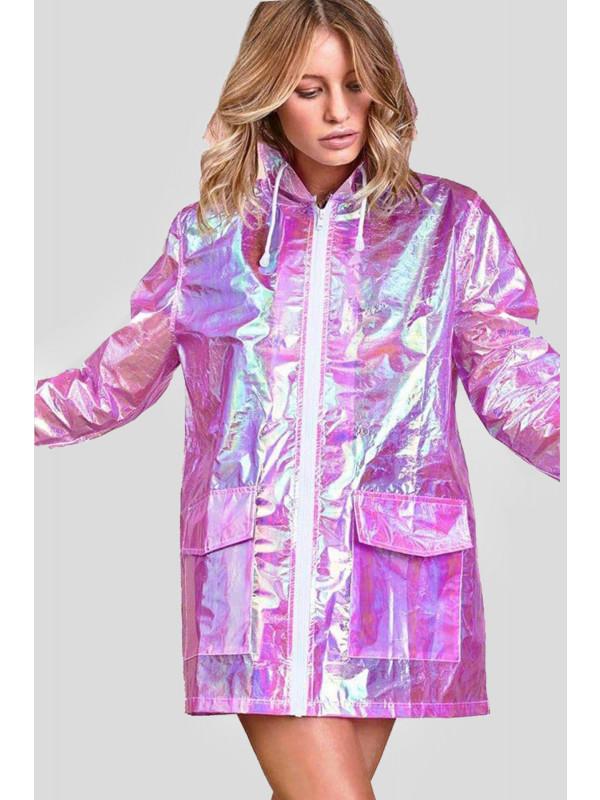 Myla Plus Size Fluorescent Neon Kagool Mac Raincoat Jacket 16-24