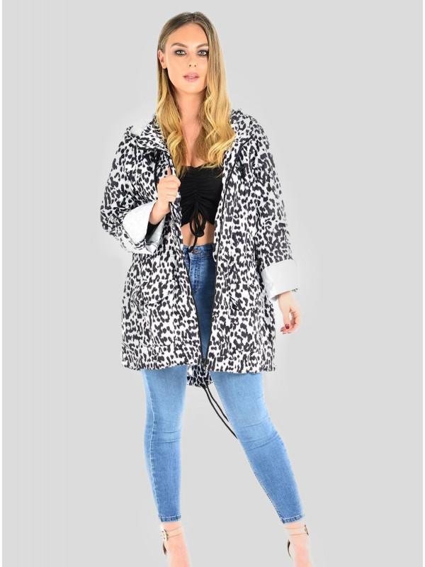 Eleanor Plus Size Animal MAC Raincoats Jacket 18-24
