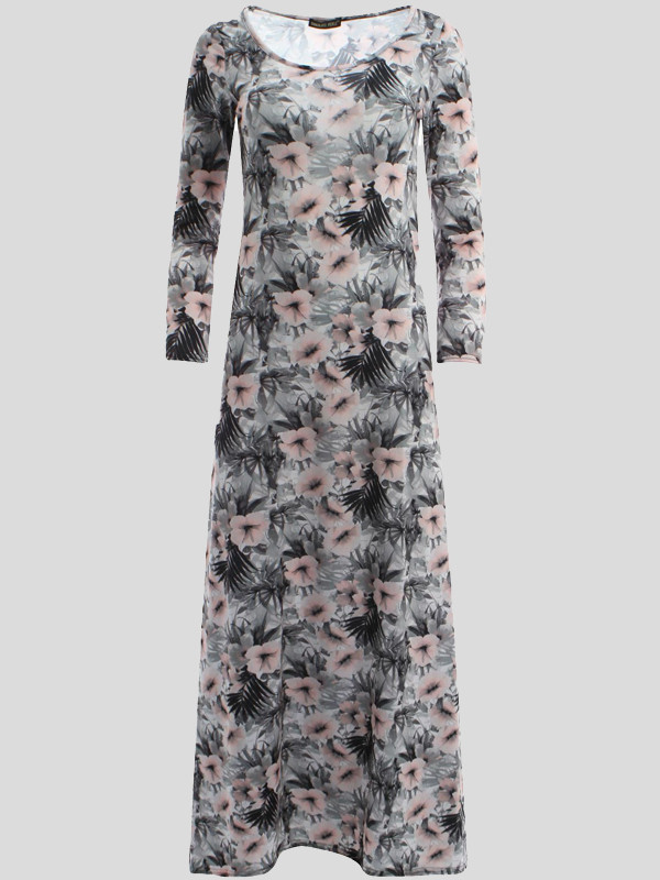 Ella Hibiscuss Floral Scoop Dress 8-14