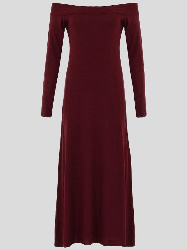 ELLE Off Shoulder Long Sleeve Dress 8-14