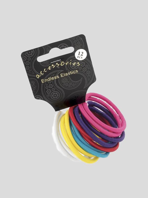 Emelia 4mm Twelve Piece Hair Elastics Bands