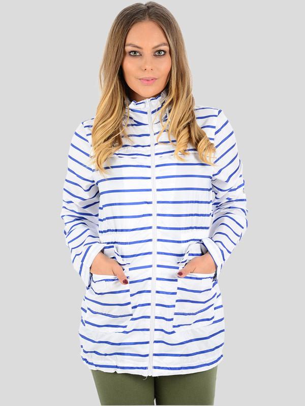Esme Nautical Stripe MAC Fishtail Jacket 8-16