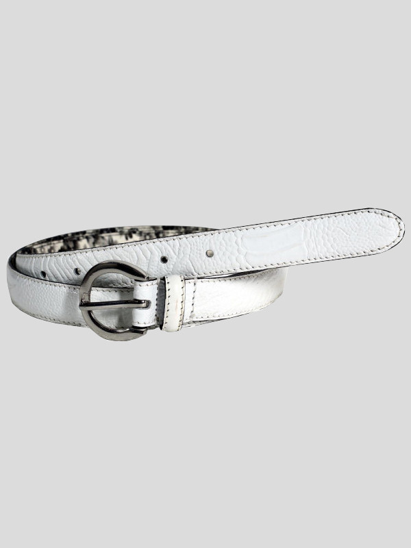 Eve Ladies Crocodile Textured Genuine Leather Belts M-4XL
