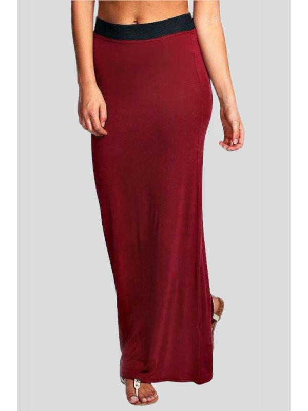 Faith Plus Size Full Length Gypsy Jersey Maxi Skirt 16-26