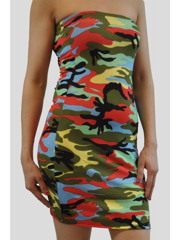 Georgia Plus Size Green Army Bodycon Dress 16-22