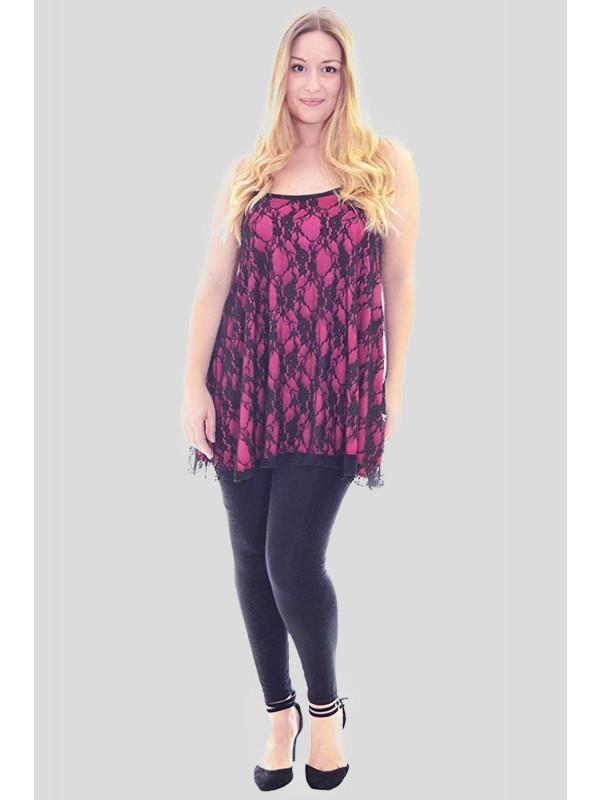 Grace Camisole Floral Lace Strappy Vest Tops 12-30