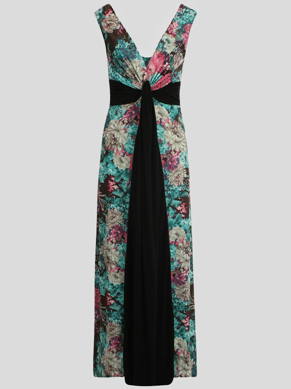 Phoebe Plus Size Grecian Boob Knot Maxi Dress 16-26