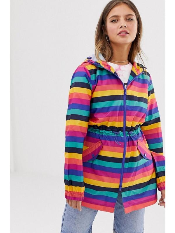 Hallie Fishtail Festival Hooded Mac Raincoat Jacket 8-16